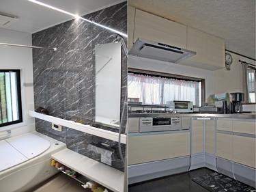 浴室とキッチンの収納を増やして快適な空間へ!