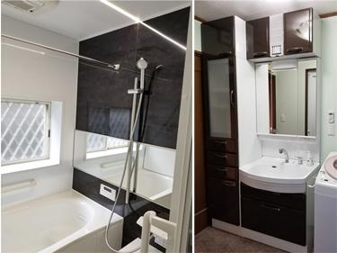 美を楽しめる機能的な浴室・脱衣所リフォーム★