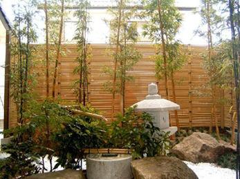 二種類の竹のコラボレーションで、 イメージ以上の出来栄えに感激しました。