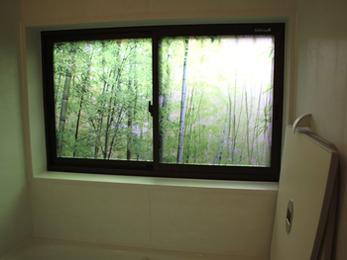 浴室窓にデザインを★落ち着ける空間を演出
