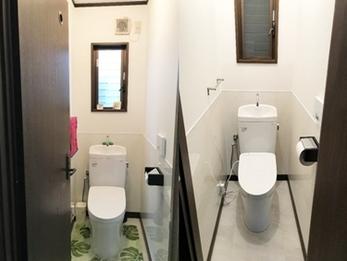 シンプルで真っ白な空間、清潔感際立つトイレリフォーム!