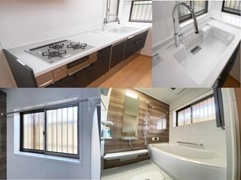 お掃除のしやすさと家事導線を考えた、快適キッチン&浴室リフォーム☆
